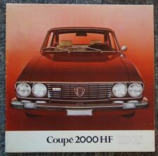 Prospekt Lancia Coupe 2000 HF 2/ 1972 ORIGINAL Rimini Stempel