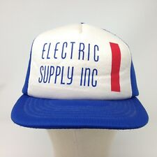 vtg Electric Supply Foam Trucker Hat Cap Snapback Surfer Skater Engineer Utlity