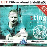 VINTAGE INTERNET: AOL CD ROM (STING MUSIC/MAIL ON SUNDAY) - FAST WITH FREE P&P