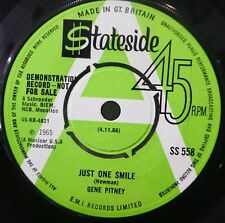GENE PITNEY Just One Smile 45 A SIDE ~ DEMO ** Stateside ~ PROMO UK 7