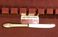 RARE VTG 1847 ROGERS BROS IS SILVERPLATE First Love DINNER KNIFE SILVERWARE ~C40