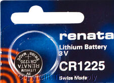2 pc CR 1225 Renata Lithium Watch Batteries FREE SHIP