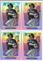 2014 Bowman Chrome Draft Trevor Story (4) Card Refractor Lot Rockies #CTP-74
