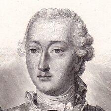 Portrait XIXe Louis V Joseph de Bourbon Condé Armée de Condé 1839
