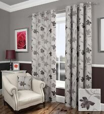 Eyelet Top Floral Traditional Curtains & Pelmets