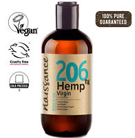 Naissance Cold Pressed Virgin Hemp Seed Oil no. 206 250ml - Pure & Natural, Cold