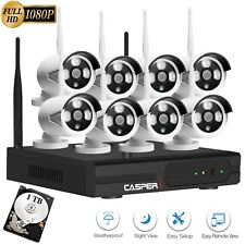 8CH Wireless Home Security System 1080P CCTV IP WIFI Camera NVR KIT With 1TB HDD
