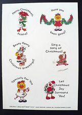 "VINTAGE SUZY ZOO VISITS CURRENT 6 STICKERS 1 SHEET 5 3/4"" x  8 1/4"" CHRISTMAS"