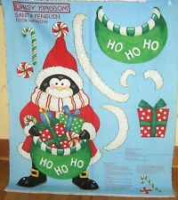 "1 Daisy Kingdom 2006 ""Santa Penguin"" Christmas Quilting/Wallhanging Fabric Panel"