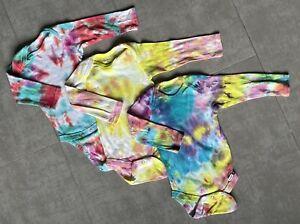 Tie Dye Onesies - Set of 3 - Gerber Long Sleeve Size 12 Months