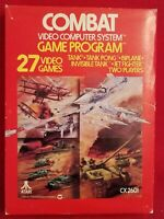 Combat Atari 2600 Game, Original box, cartridge, instructions. Vintage.