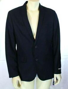 Inc International Concepts Men's Slim-Fit Jaxon Blazer Navy Striped Size M