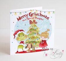 Il Grinch personalizzata cartolina di Natale-FIGLIA FIGLIO-NIPOTE NIPOTINA