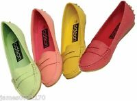 ladies slip on shoes pumps  womens flat sole loafer casual size  uk 3  4 5 6 7 8