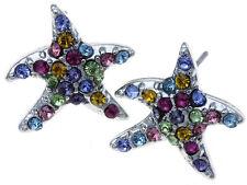 Multi Colored Crystal Star Earrings