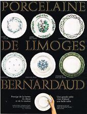 PUBLICITE  1969   BERNARDEAU  poecelaine art de la table