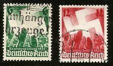 1936 Nazi Germany Stamp Set Nuremberg Nazi Party Congress Swastika Hitler Salute