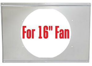 "FORD CHEVY aluminum radiator SHROUD 31x19 for 16"" fan"