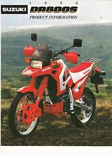 Suzuki DR800 world market product information in English DR800S DRBIG 1990 model
