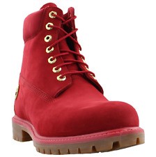 """TIMBERLAND MENS CLASSIC 6"""" PREMIUM WATERPROOF BOOTS A1JLT RUBY RED"""