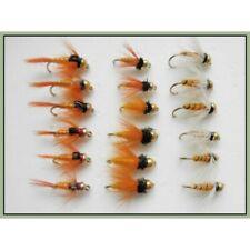 18 Orange époxy Buzzers Truite Mouches Mixte Taille 10,12,14 Libellules