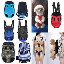 Pet Dog Cat Puppy Carrier Bags Shoulder Backpack Travel Front Net Double Sling