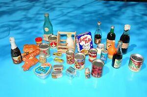 1960's lot jouet anciens publicitaires épicerie dinette champagne poupée