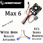 HOBBYWING EZRUN MAX 6 ESC 8s WITH 8mm Bullets Attached & EC5 Series Harness RTR