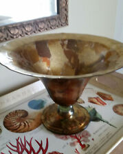 Gold Leaf Foil large art glass bowl, decorative, Pier 1, heavy