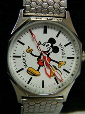 Vintage Disney HMT Mickey Mouse Wind Up Watch, Unique Metal Band!!