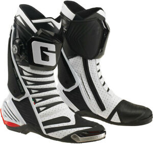 Gaerne GP1 Evo Luft Weiß/Schwarz Motorrad Racing SPORTS Stiefel Italienischer