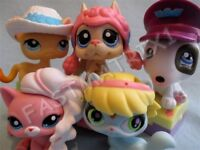 Littlest Pet Shop Lot of 4 RANDOM Wig Hair Hat for Cat Dog Accessories SURPRISE!