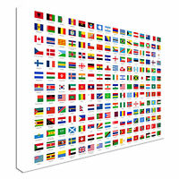 Flags of the world Canvas Art Cheap Wall Print Large Any Size