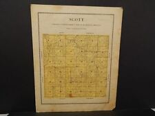 Iowa Madison County Map Scott Township  1912  Y12#11