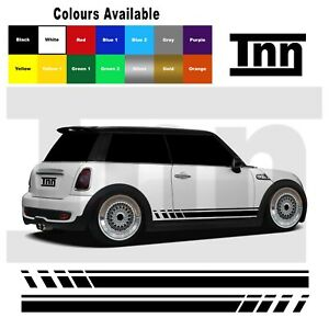 Side Stickers Graphics Stripes Vinyl Decals For Mini Cooper S One Clubman