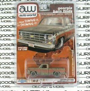 Auto World 1:64 2021 Georgia Barn Finds R2 Rusted 1979 CHEVROLET SILVERADO C10