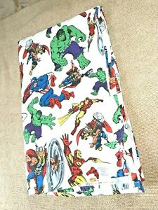 Pottery Barn Kids Marvel twin flat sheet hulk captain america iron man thor BIN