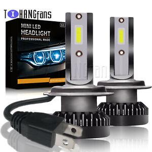 2PCS H7 MINI Car LED Headlight Kits 8000LM Hi-Low Beam Bulbs 6000K White ATF
