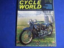 CYCLE WORLD magazine-JULY 1963-MATCHLESS SCRAMBLER-BSA 350 SS90-COUGAR 100