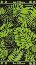 Serviette de plage jacquard Tropical vert 90X170 cm  JQ185