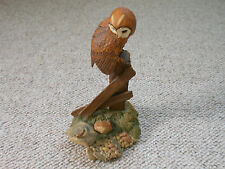 Aynsley mastercraft owl on a post looking at a mouse 1980