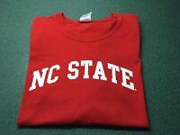 NC State University Wolfpack Short Sleeve T Shirt Red Mens XL Gildan