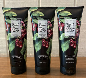 3 BATH & BODY WORKS BLACK CHERRY MERLOT MOISTURIZING CREAMY BODY WASH 10 OZ