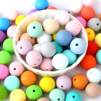 Baby Mixed Color Silicone Teether Loose Beads Toy DIY Teething Necklace BPA Free