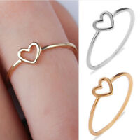 Women Love Heart Ring Couples Friendship Promise Rings Girls Jewelry Size 6-10