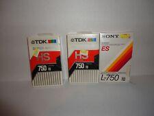 Lot Of 3 L-750 Betamax Blank Video Cassettes SONY TDK NEW