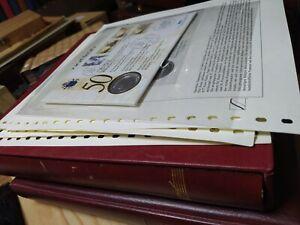 Vatikan Sammlung mit Numisbriefen Vordrucken sehr schönes Material aus Auflösung