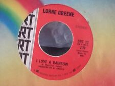 45B LORNE GREEN {BEN CARTWRIGHT} I LOVE A RAINBOW / DADDY ON GRT RECORDS