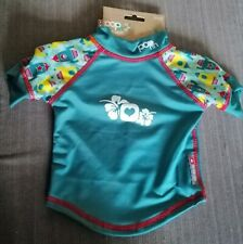 Close Pop In Rash Vest Small 6-12m Boy's Turquoise Rockets SPF 50+ Baby Swim