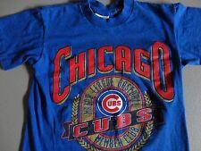 Blue Vintage Nutmeg Mills Chicago Cubs Members Club MLB tshirt YOUTH M Excel